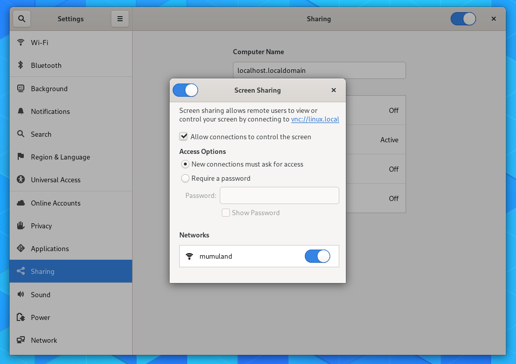 Tutorial: Screen Sharing and Remote Desktop on Fedora